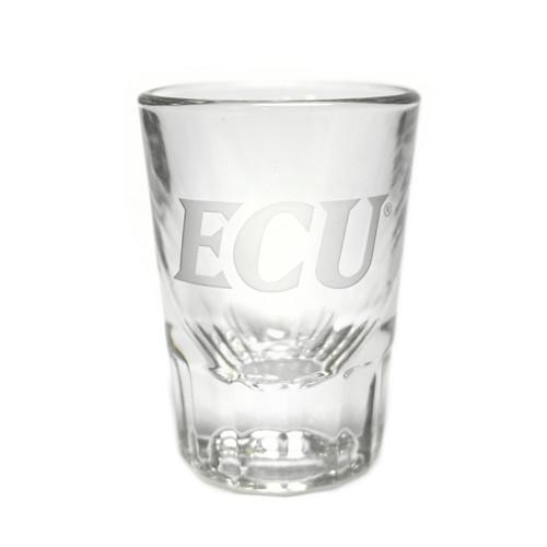 Frosty Etched ECU Shot Glass