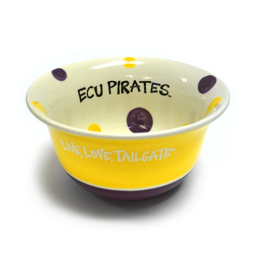 ECU Pirates Polka Dot Bowl