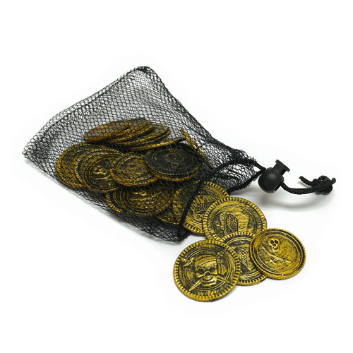 Pirate Coins & Mesh Purse