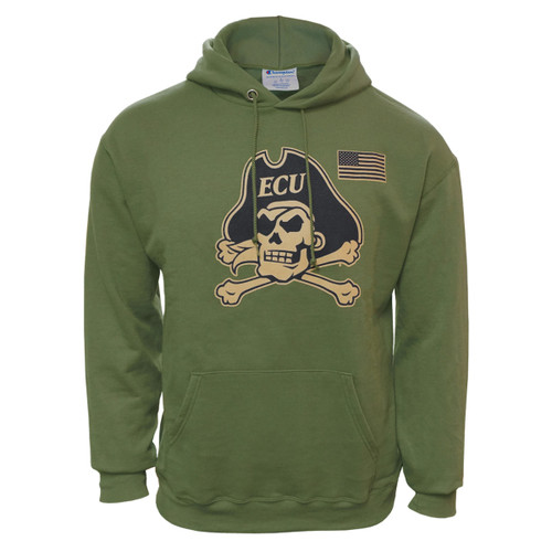 Military Green USA Jolly Roger Hoodie