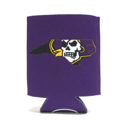 Purple Pirate State Of Mind Koozie
