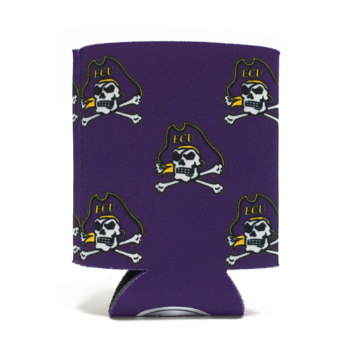 Purple Jolly Roger Pattern Koozie