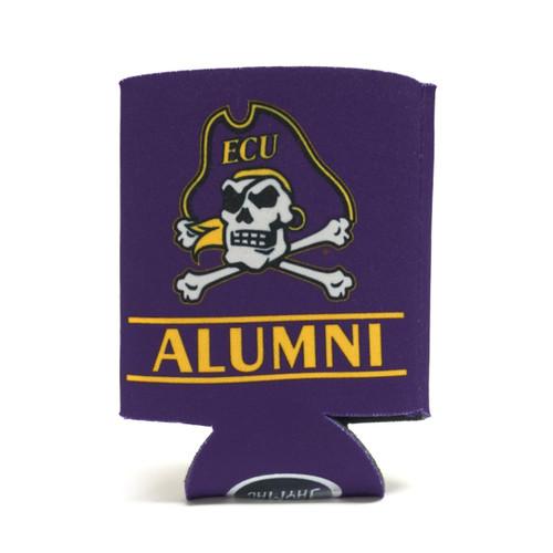Purple Jolly Roger ECU Alumni Bar Koozie