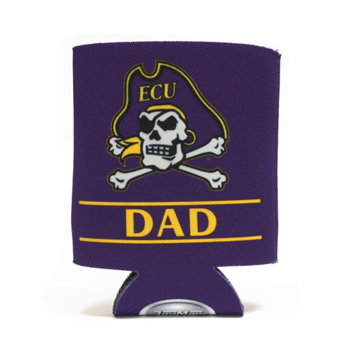 Purple Jolly Roger Dad Bar Koozie