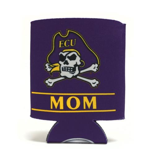 Purple Jolly Roger Mom Bar Koozie
