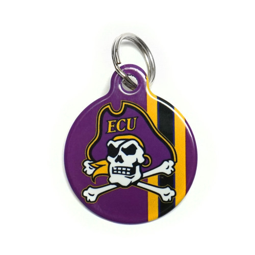 Purple Stripe Jolly Roger Dog Tag