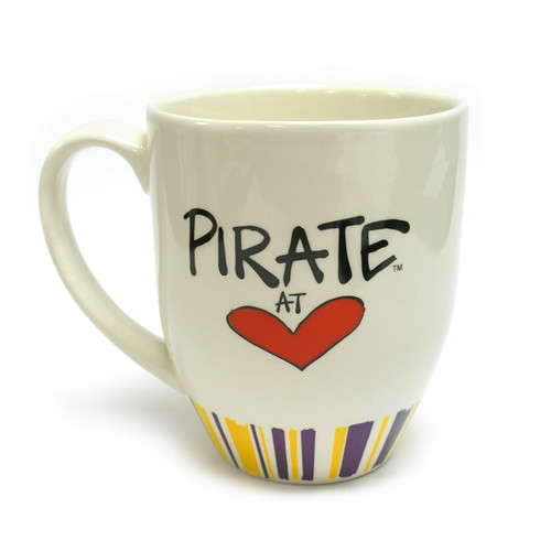 Pirate at Heart ECU Coffee Mug