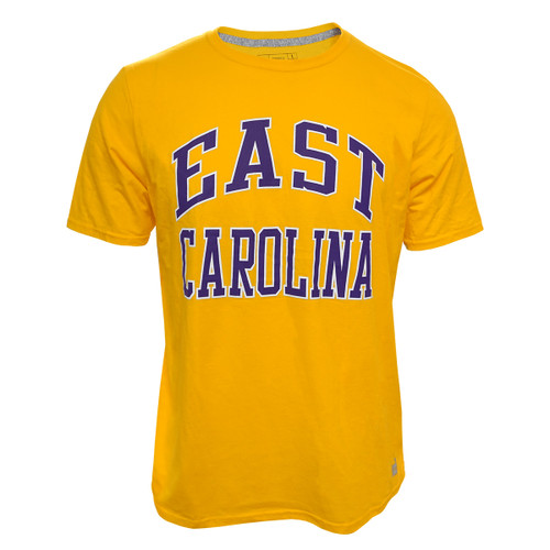 Gold East Carolina Arch Tee