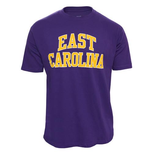 Purple East Carolina Two Color Arch Tee