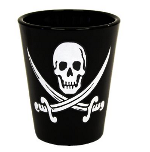 Shot Glass Black Jack Rackham