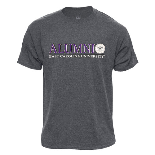 Charcoal ECU Alumni Bar & Seal Tee
