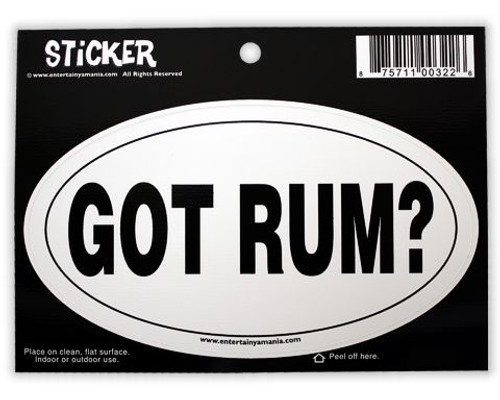 Got Rum Oval Sticker