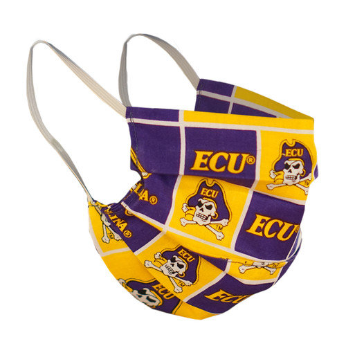 ECU Patchwork Pattern Face Mask