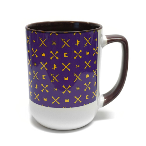 Purple ICON Wrap ECU Coffee Mug
