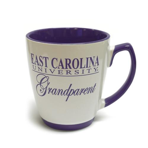 White & Purple East Carolina Grandparent Coffee Mug