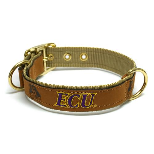 Tan Leather ECU Dog Collar