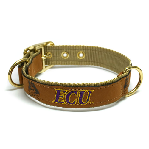 Tan Leather ECU Dog Collar