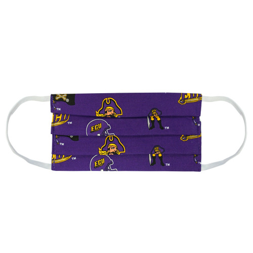 Purple Multi Logo Face Mask