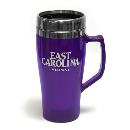 Purple East Carolina Alumni Handle Tumbler