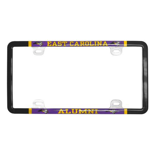 License Plate Frame Alumni East Carolina