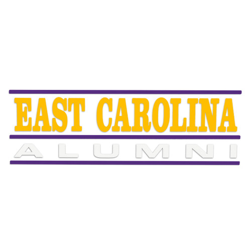 Alumni Decal East Carolina Bar