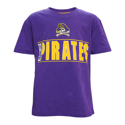 Purple Youth Pirates Jolly Roger Bar Tee