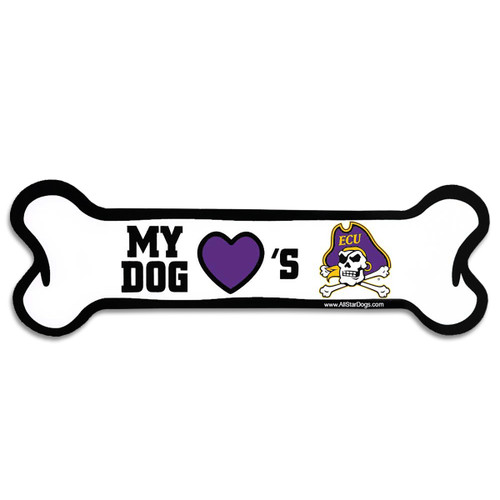 ECU Dog Bone Magnet