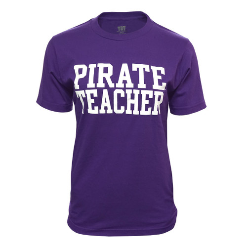 Purple Pirate Teacher Tee