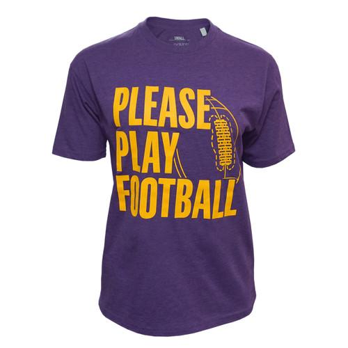 Purple Please Play Football Tees