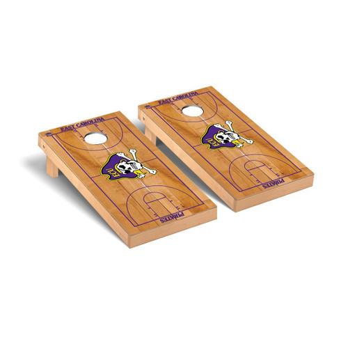 East Carolina Pirates Regulation Cornhole Game Set Basketball Court Version