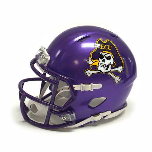 Purple Mini Speed Jolly Roger Football Helmet