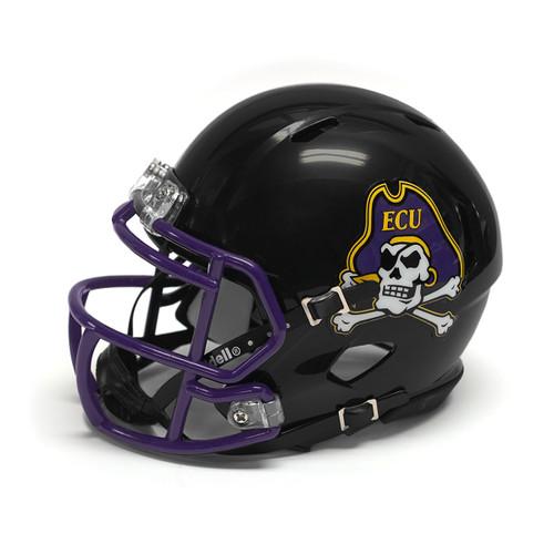 Black Mini Speed Jolly Roger Football Helmet with Purple Mask
