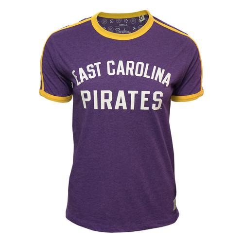 Purple Ladies East Carolina Pirates Ringer Tee