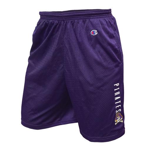 Purple Pirates Jolly Roger Mesh Gym Shorts
