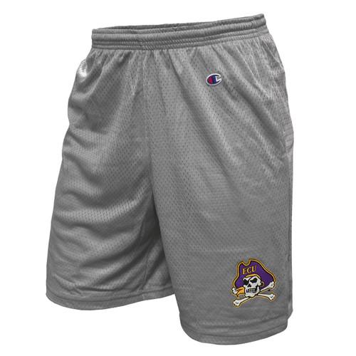 Grey Jolly Roger Mesh Gym Shorts