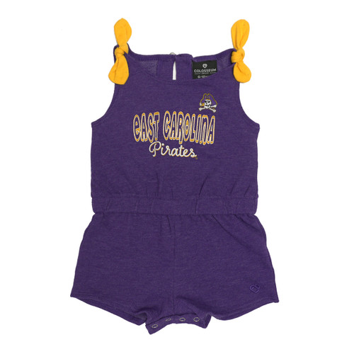 Purple Infant Girl's ECU Tank Romper with Bows