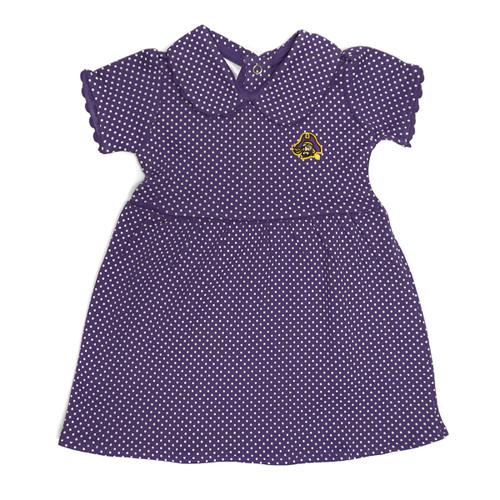 Purple Toddler Mini Polka Dot Pirate Head Dress