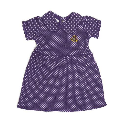 Purple Infant Mini Polka Dot Pirate Head Dress