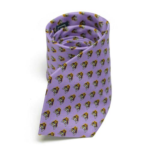 Lavender Jolly Roger Pattern Tie