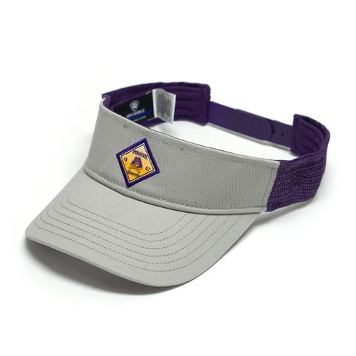 Grey & Purple ECU Diamond Visor