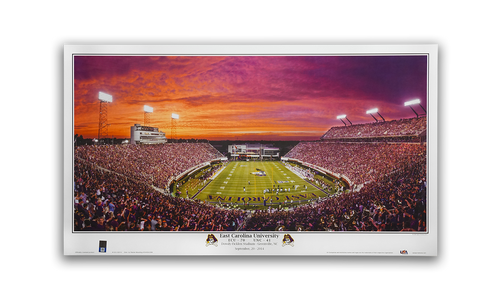 "16"" x 9"" ECU vs UNC Sunset Mini Print"