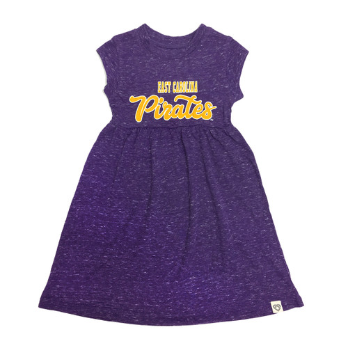 Purple Heather ECU Pirates Toddler Dress