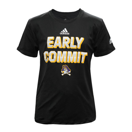 Youth Black Adidas ECU Early Commit Tee