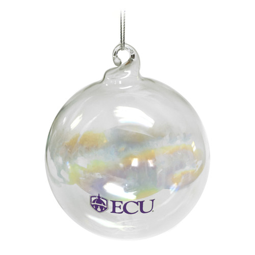 Iridescent Frosted Glass ECU Ornament