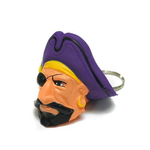 Foam Pee Dee Pirate Head Keychain