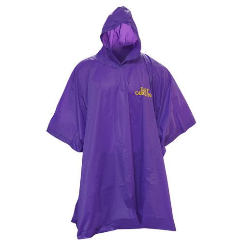 Purple Re-usable East Carolina Poncho
