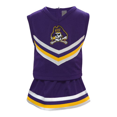 Purple Two Piece Jolly Roger Kid's Cheer Dress