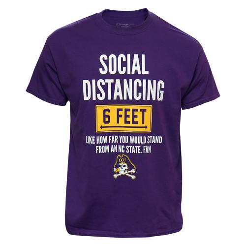 Purple ECU Social Distancing Tee - NC State