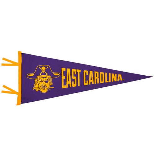 Purple & Gold Vault East Carolina Pennant