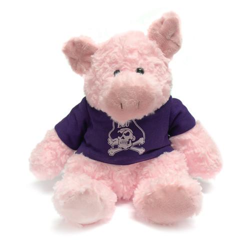 Pink Piggy with ECU Tee Cuddle Buddy